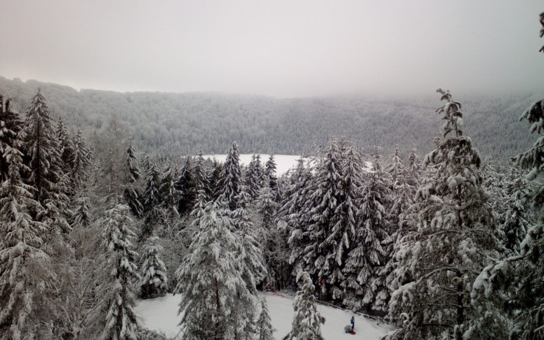 Iarna la lacul Sfanta Ana